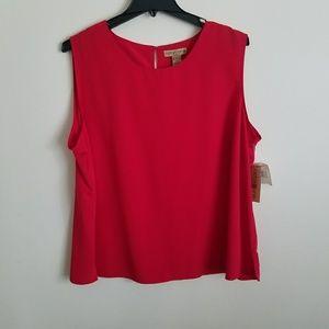 New notations sleeveless  blouse sz~3X